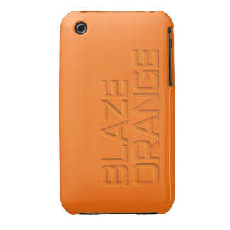 Blaze Orange High Visibility Hunting iPhone 3 Case-Mate Case