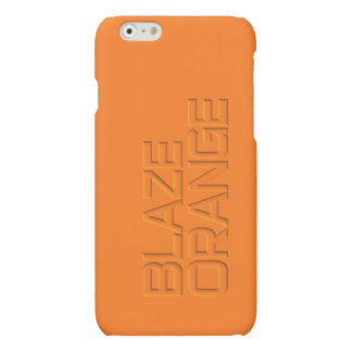 Blaze Orange High Visibility Hunting for Hunters Matte iPhone 6 Case
