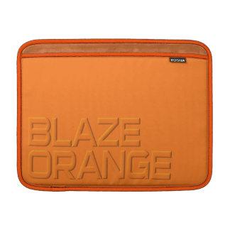Blaze Orange High Visibility Hunting MacBook Air Sleeve
