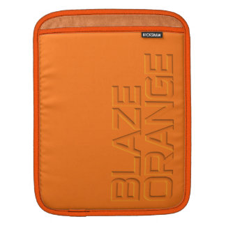 Blaze Orange High Visibility Hunting iPad Sleeve