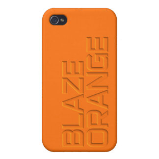 Blaze Orange High Visibility Hunting iPhone 4/4S Covers