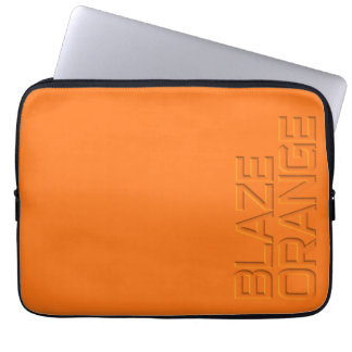 Blaze Orange High Visibility Hunting Computer Sleeves