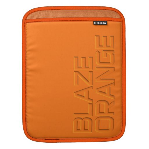 Blaze Orange High Visibility Hunting Sleeves For iPads