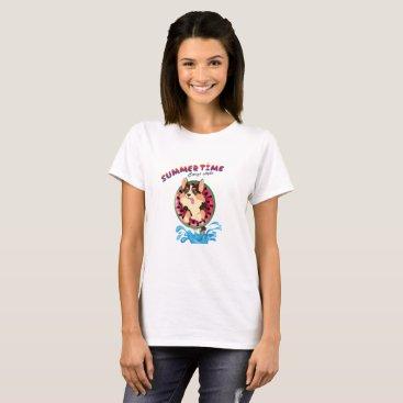 Blaze the corgi -Summertime T-Shirt