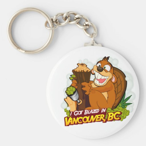 Blazed in Vancouver, BC Keychain