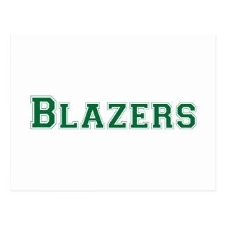 Blazers square logo in green postcard