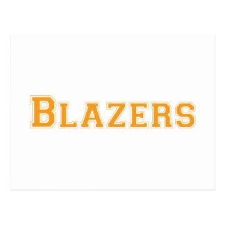 Blazers square logo in orange postcard