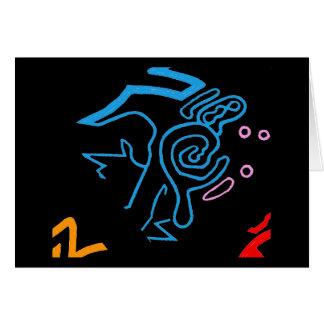 Blazin' Amazing Cosmic Blue Card