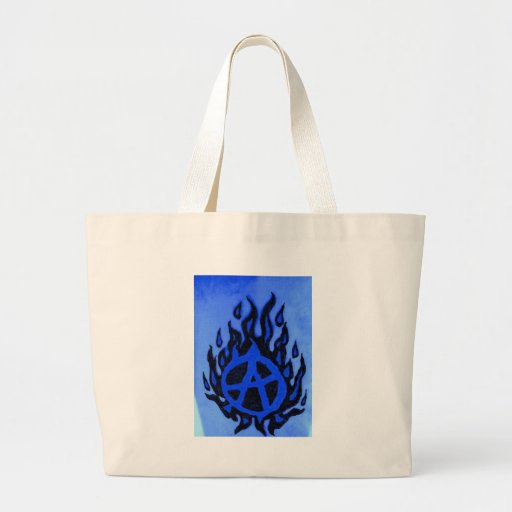 Blazin'Anarchy-Nuevo agolpamiento Logotipo-Azul Bolsa Tela Grande
