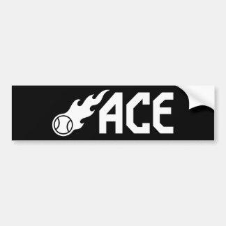 Blazing ACE Tennis Bumper Stickers