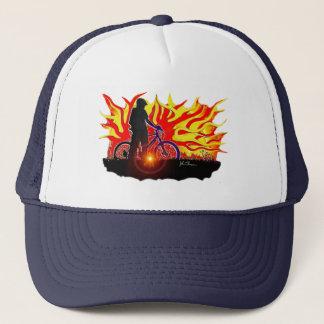 Blazing Bike Rider Hat