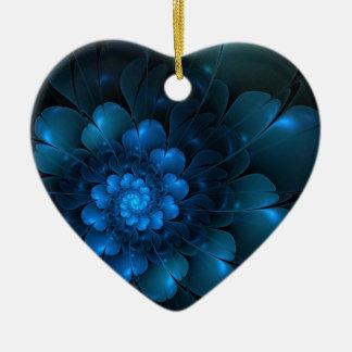 BLAZING BLUE CERAMIC ORNAMENT
