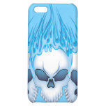 Blazing Blue Skull Case For iPhone 5C
