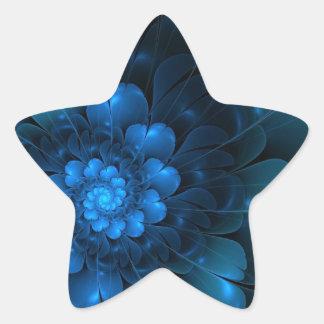 BLAZING BLUE STAR STICKER
