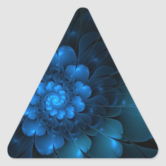 BLAZING BLUE TRIANGLE STICKER