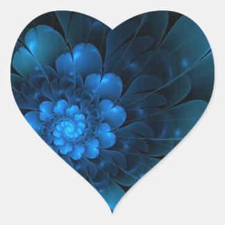 BLAZING BLUE HEART STICKER