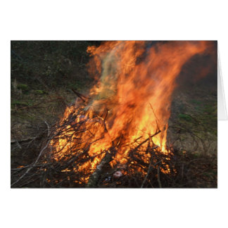 Blazing Bonfire Card