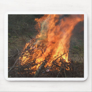 Blazing Bonfire Mouse Pad