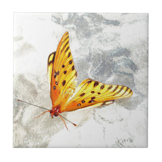 Blazing Butterfly Ceramic Tile