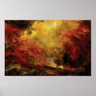 Blazing Crescendos Art Poster/Print