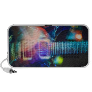Blazing Electric Guitar iPod Speakers