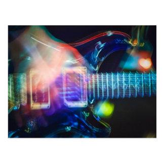 Blazing Electric Guitar Postcard