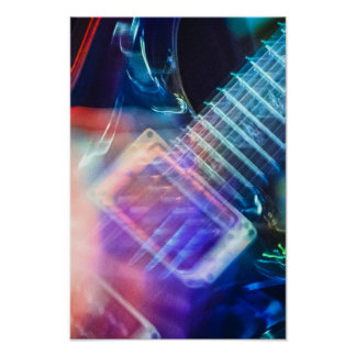 Blazing Electric Guitar Posters