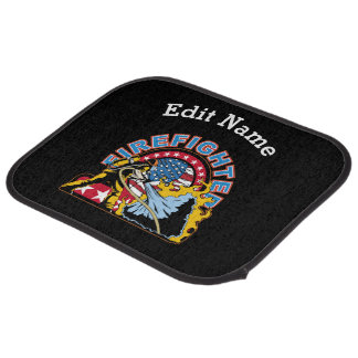 Blazing Firefighter Car Mat