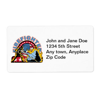 Blazing Firefighter Shipping Label