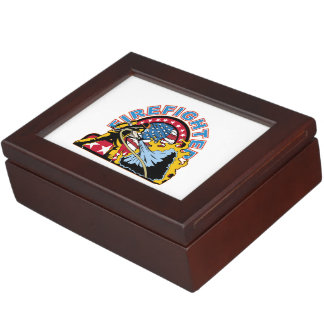 Blazing Firefighter Memory Boxes