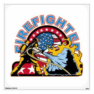 Blazing Firefighter Wall Sticker