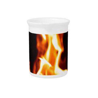 Blazing flames beverage pitcher