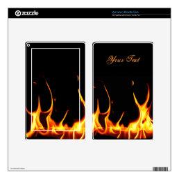 Blazing Flames Kindle Fire Skin