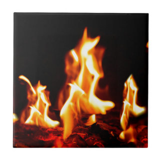 Blazing flames tile