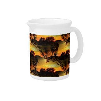 Blazing Florida Golden Sunset Beverage Pitcher