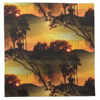 Blazing Florida Golden Sunset Cloth Napkin