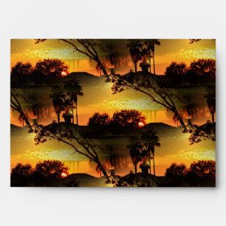 Blazing Florida Golden Sunset Envelope