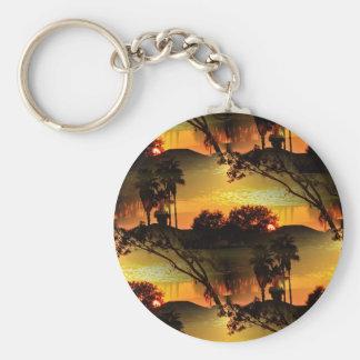 Blazing Florida Golden Sunset Keychain