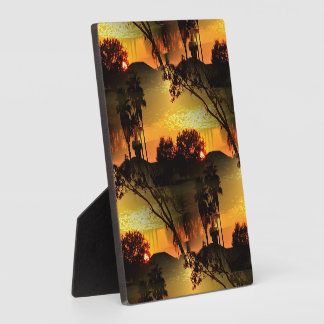 Blazing Florida Golden Sunset Plaque