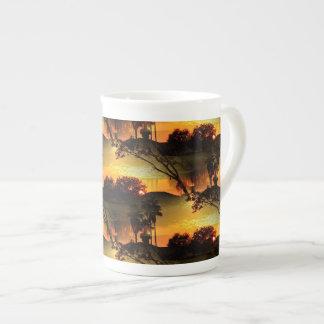 Blazing Florida Golden Sunset Tea Cup