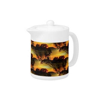 Blazing Florida Golden Sunset Teapot