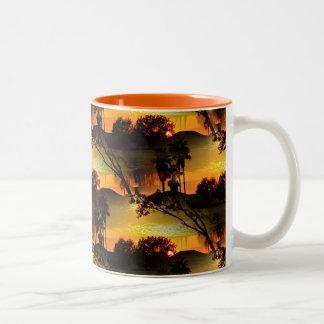 Blazing Florida Golden Sunset Two-Tone Coffee Mug