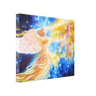 Blazing Flown away fabric Canvas Print