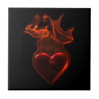 Blazing heart tile