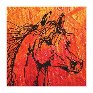 Blazing Horse Canvas Art