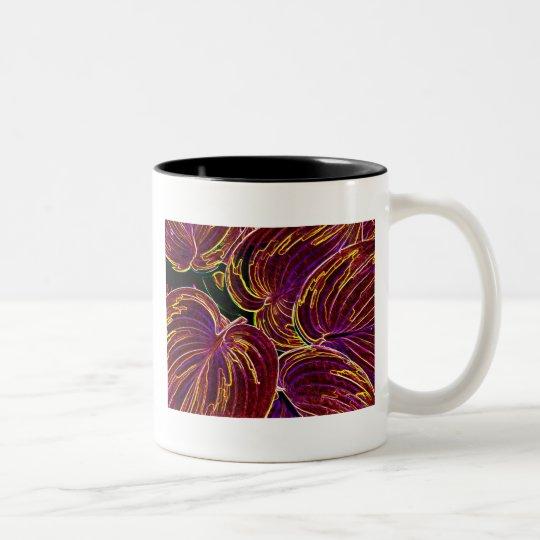Blazing Hosta Two-Tone Coffee Mug