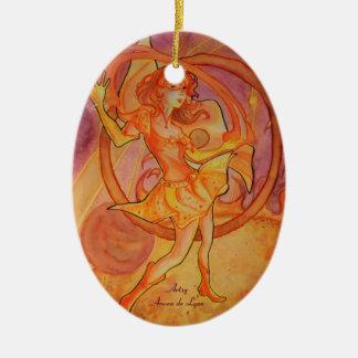Blazing Solaris Ceramic Ornament