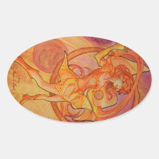 Blazing Solaris Oval Sticker