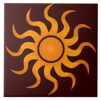Blazing Sun Chocolate Brown Tile - Large