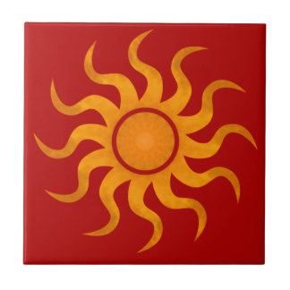 Blazing Sun Red Tile - Small